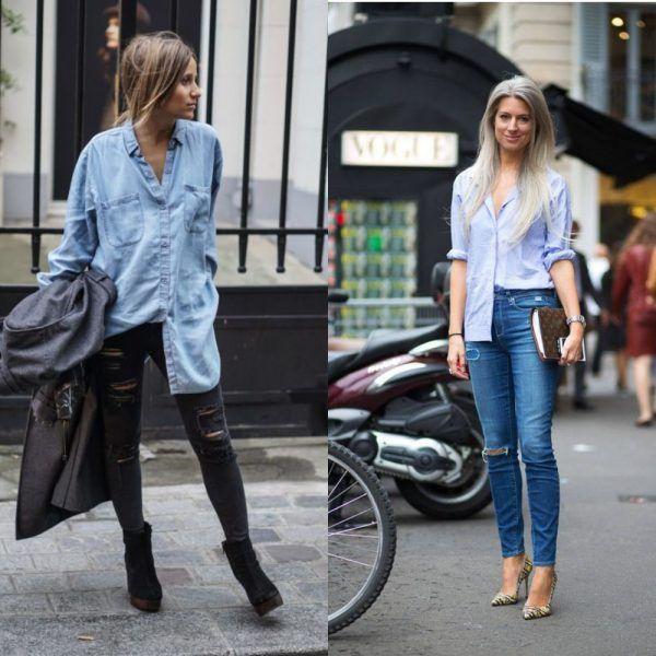 Как правильно заправить футболку в джинсы