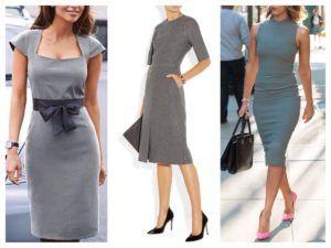 Какого цвета туфли под серое платье