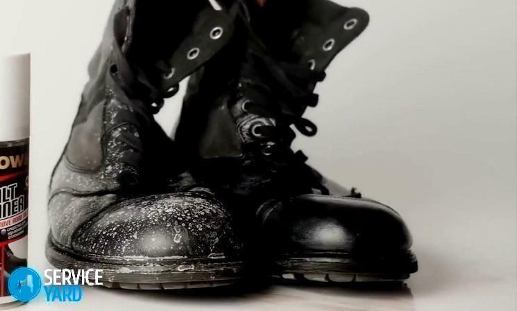 Как убрать следы соли на замшевой обуви