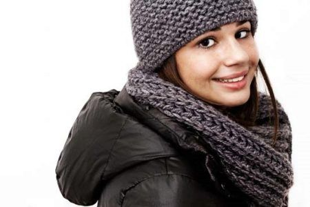 как повязать шарф на куртку с капюшоном