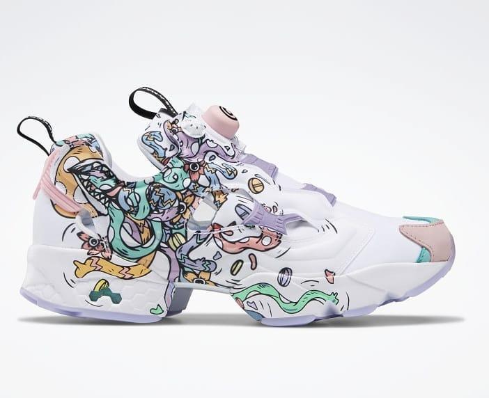 Reebok выпустил кроссовки в коллаборации с художницей Distortedd  Модель кроссовок Reebok Insta Pump Fury обрела уникальный ...