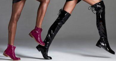 Stuart Weitsman представил модель ботфортов из эластичного винила  Новая версия обтягивающих сапог ботфортов люксового бренд...